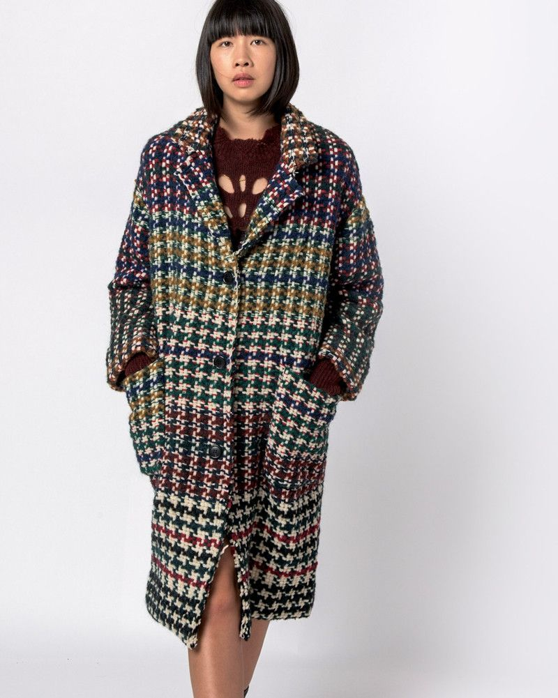 09ebceae4a8 Dallan Coat in Multicolor by Isabel Marant. Gorgeous, perfect-for-fall coat  features 3 snap-closure buttons appear as loop-through buttons, large  pockets at ...