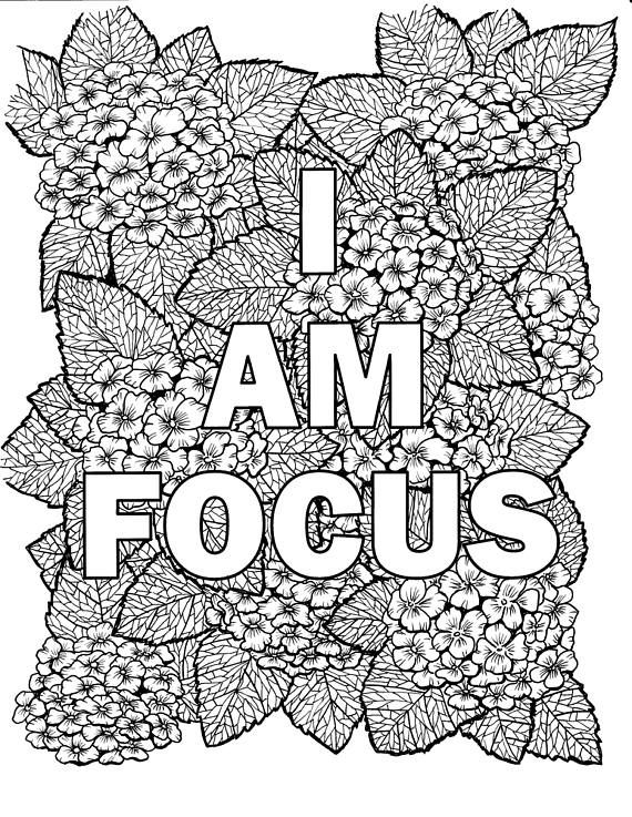 I Am Two Of The Most Powerful Words For What You Put After Them Shapes Your Reality Quote Coloring Pages Coloring Pages Digital Sticker