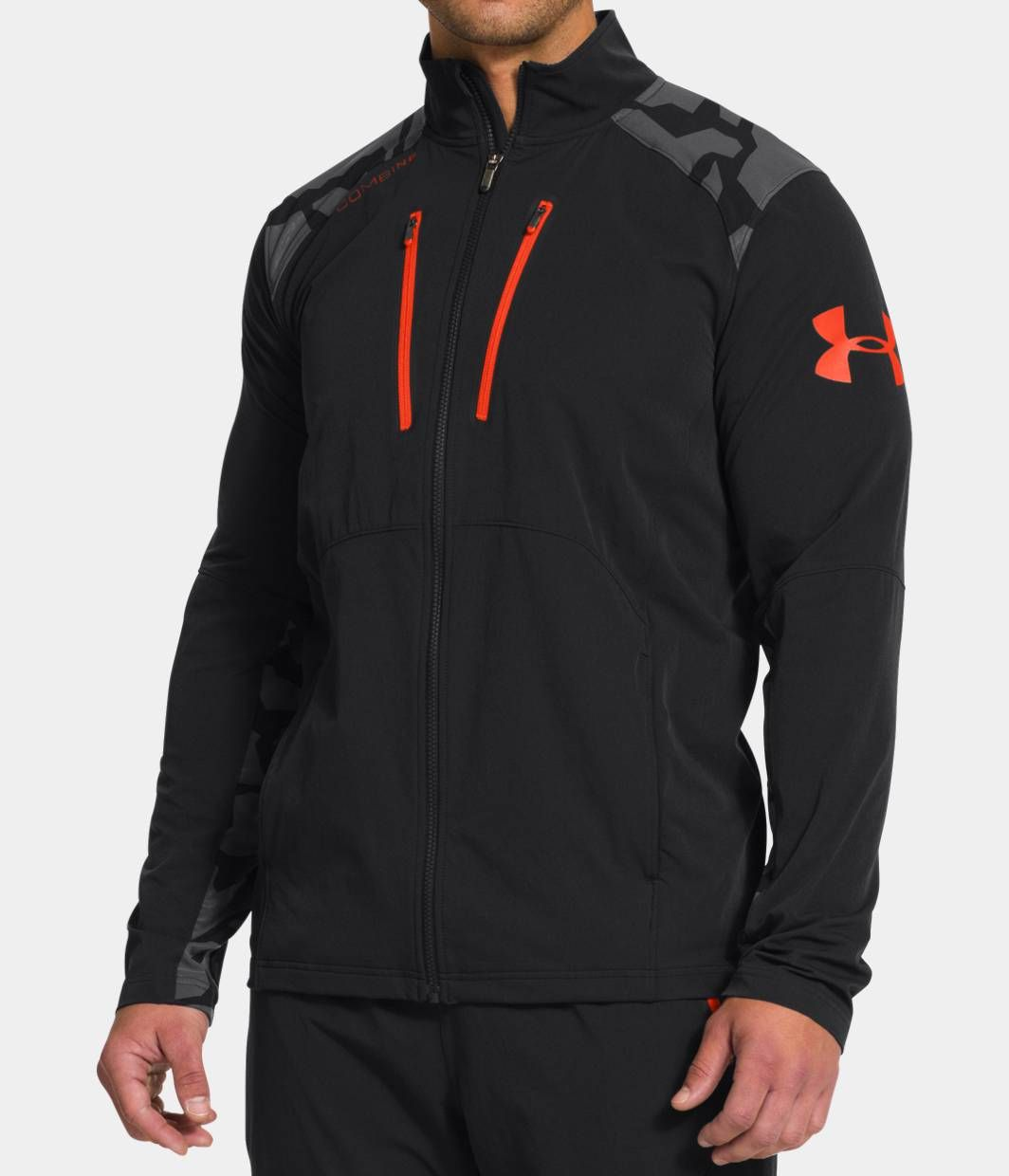 f013830aed552 Mens UA Combine® Training Storm Tundra Woven Jacket