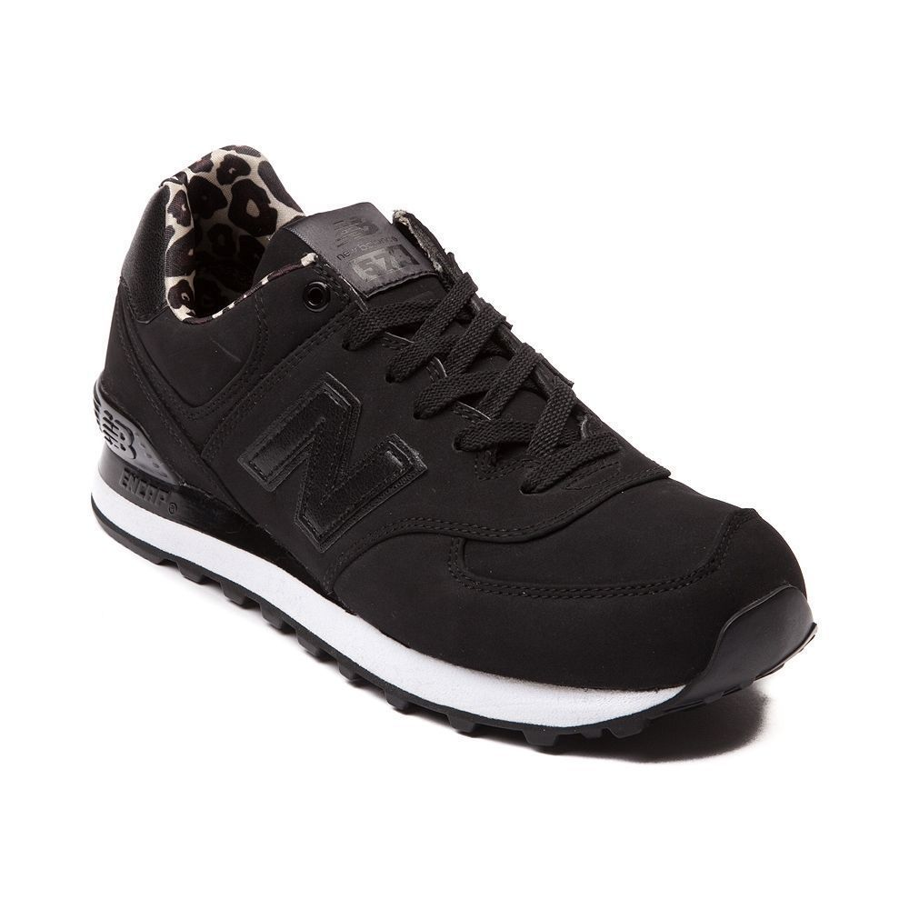 New Womens New Balance 574 High Roller Shoe Black Monochrome Leopard Ships  Now | eBay