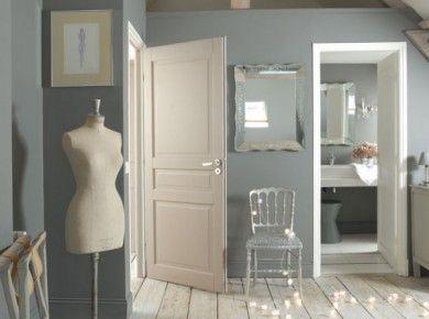 Exemple de chambre bleu / gris / beige | Bed room - cocoon | Pinterest