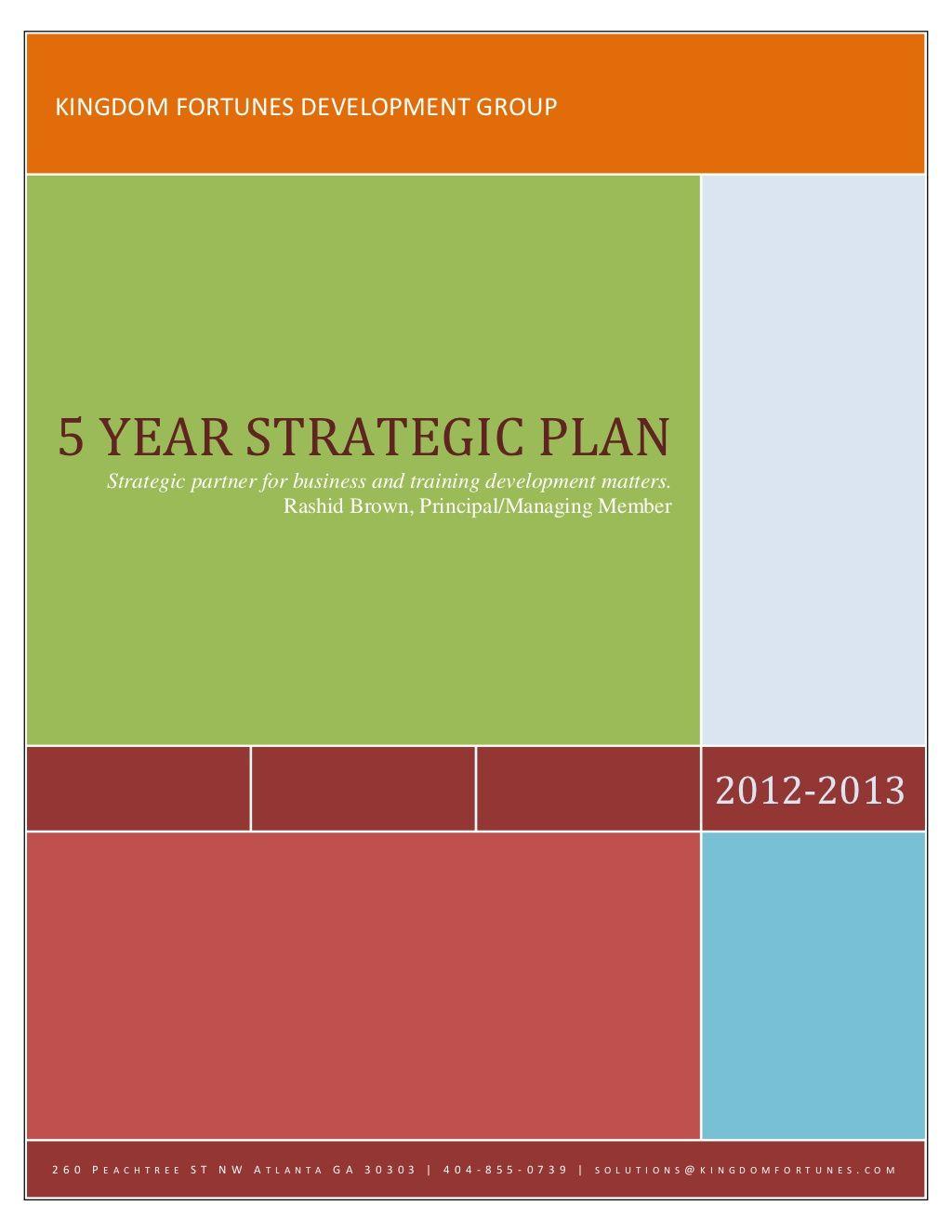 kfdgstrategicplan by RASHID Brown via Slideshare
