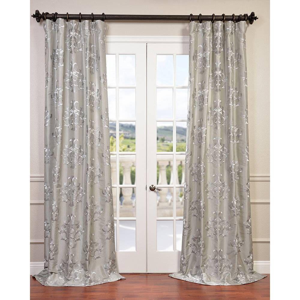 Exclusive fabrics ankara embroidered faux silk taffeta curtain panel