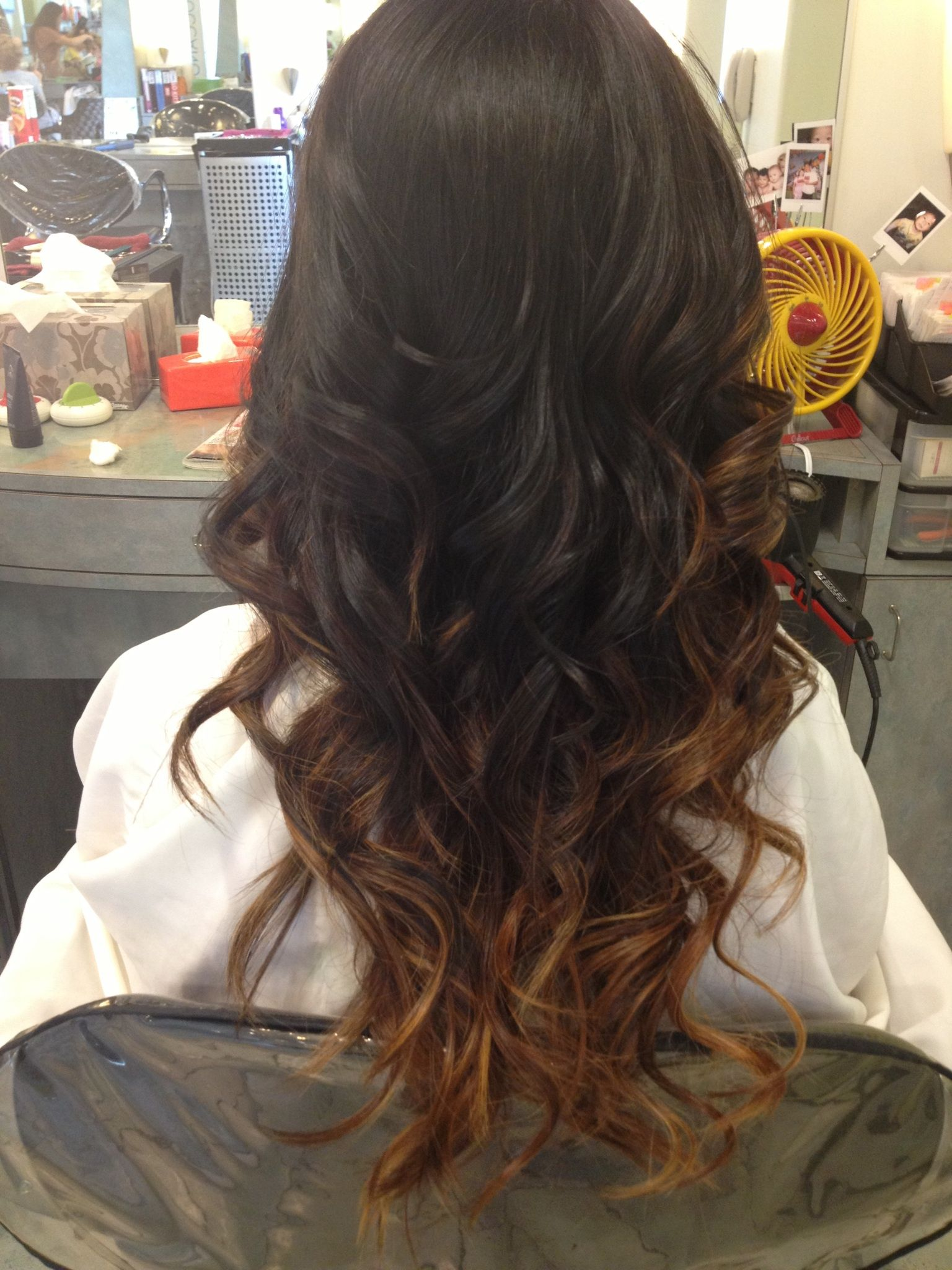 Natural Ombre On Dark Hair Color My Creation Pinterest