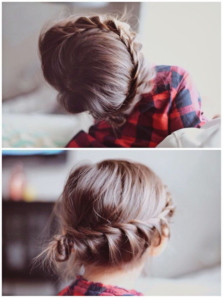 Fresh Cuts Braid Little Girl Hairstyle Updo Do It Yourself