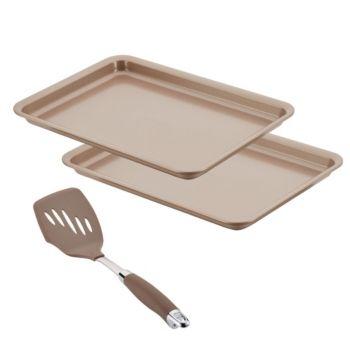 Anolon Nonstick 3 Pc Bakeware Set Gold Glass Bakeware Set