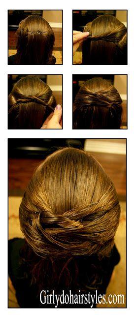 Girly Do Hairstyles: By Jenn: Criss-Cross (Ideas for Short Hair #8)