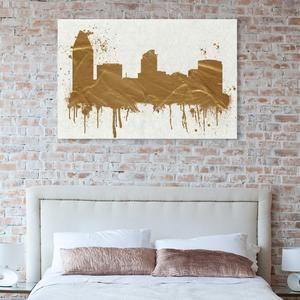 Hatcher & Ethan San Diego Skyline Canvas Wall Art – Paynes Gray