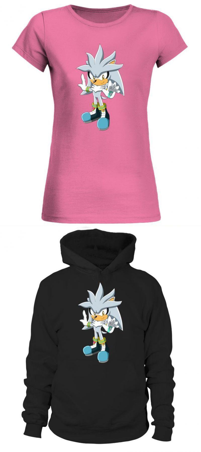 Sonic Hedgehog T Shirt Adults Sonic The Hedgehog Silver The Hed Sonic The Hedgehog T Shirt Womens Shirts Shirts Unisex Sweatshirt