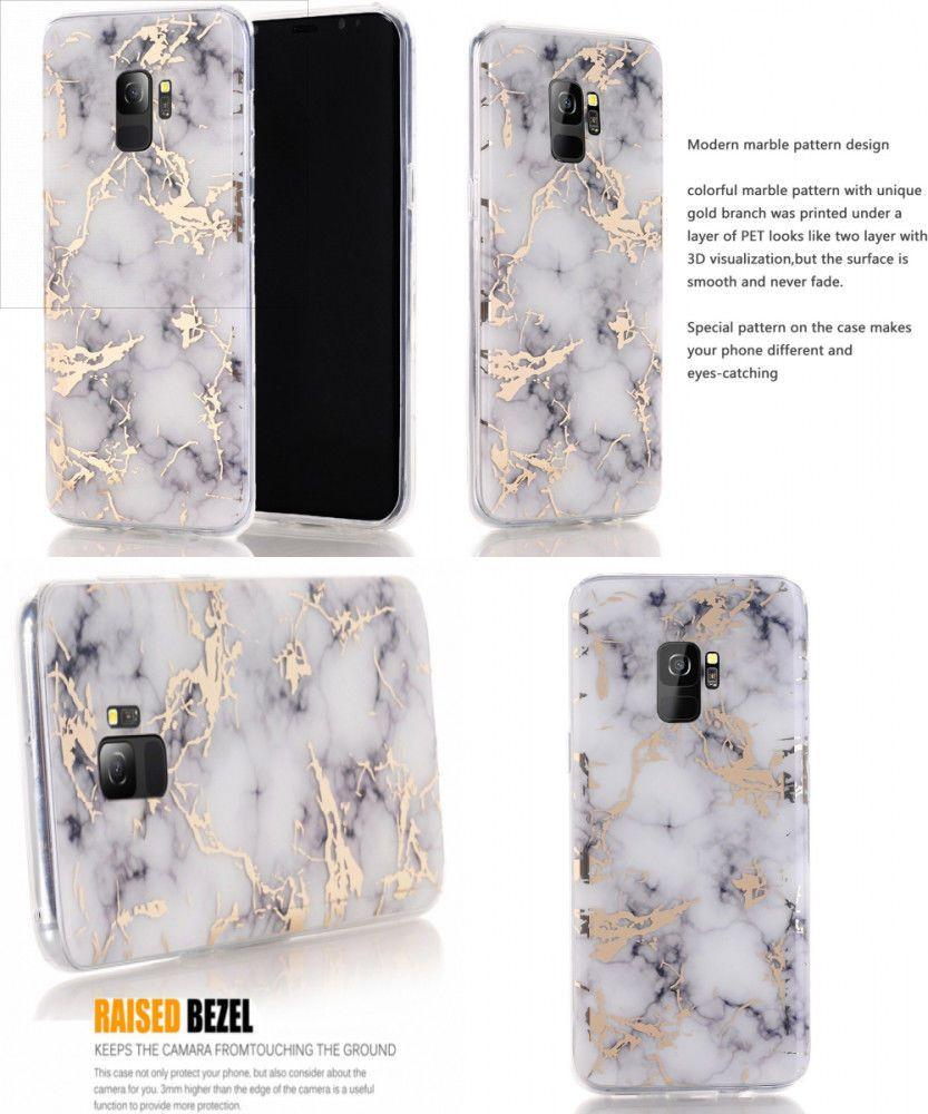 timeless design 94e2f efddb GOLD STRIKE MARBLE New Shockproof Hybrid Thin Case Cover Holder for ...