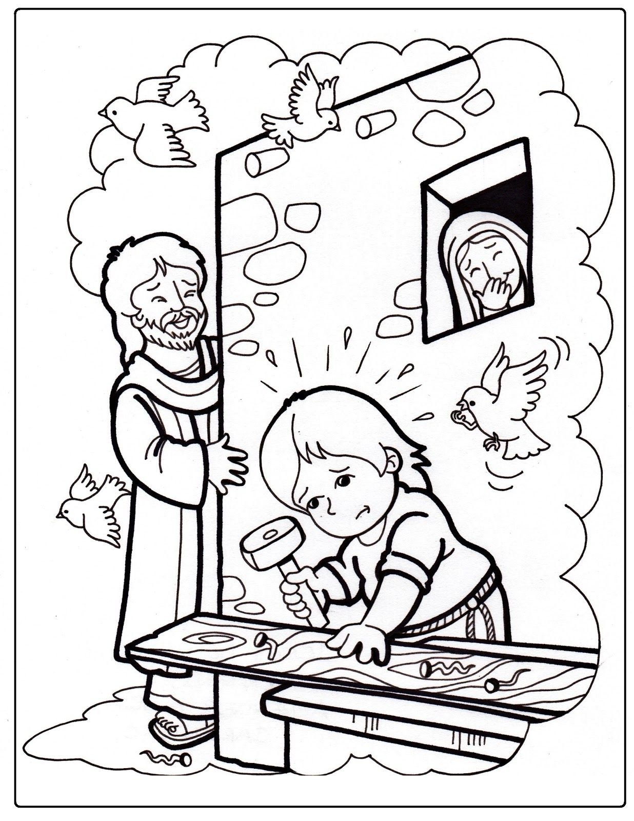 Inspirador Imagenes Para Colorear De Jesus Sana A Un Ciego | Colore ...