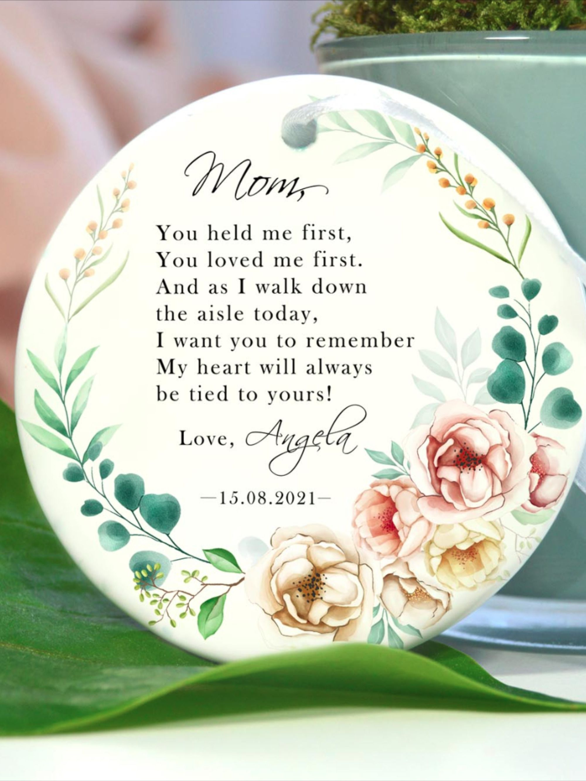 Gift For Mom On Wedding Day: Personalized Mother Of The Bride Gift From Daughter