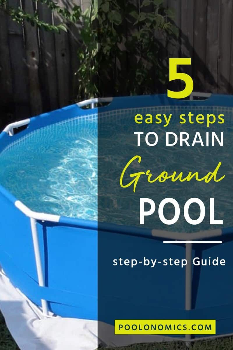 How to drain an above ground pool in 5 easy steps above