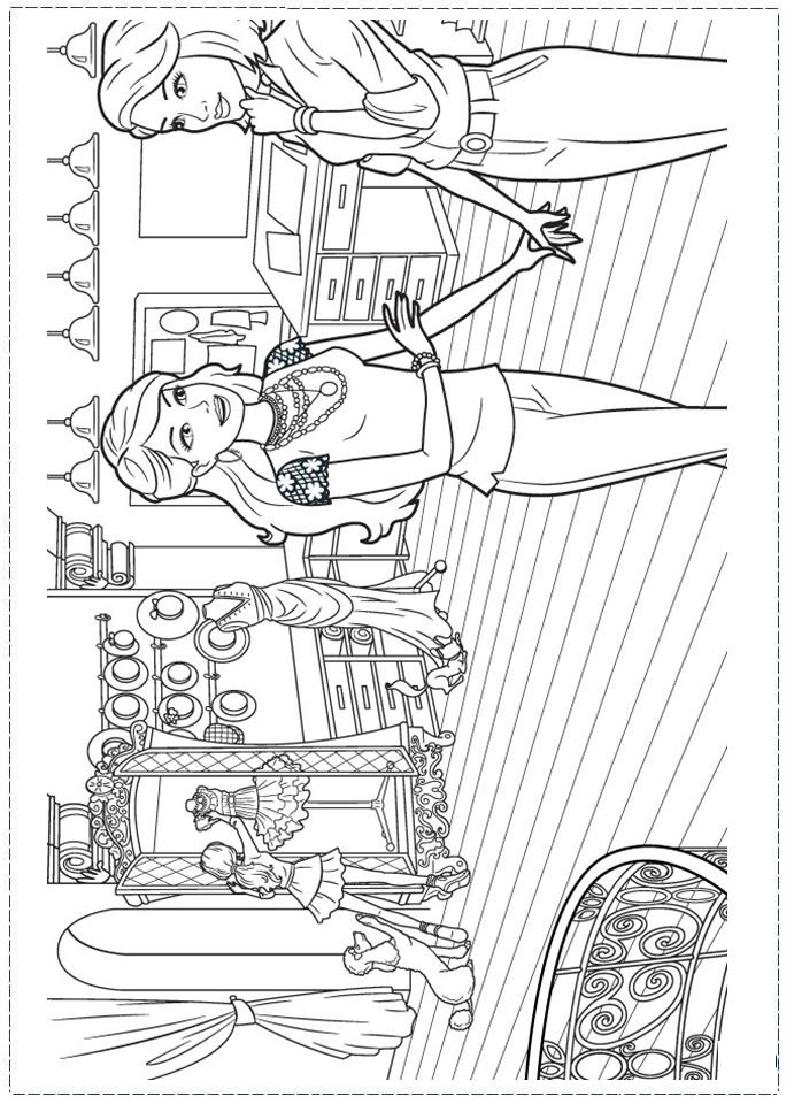 Barbie Fashion Coloring Page Barbie Coloring Pages Barbie Coloring Princess Coloring Pages