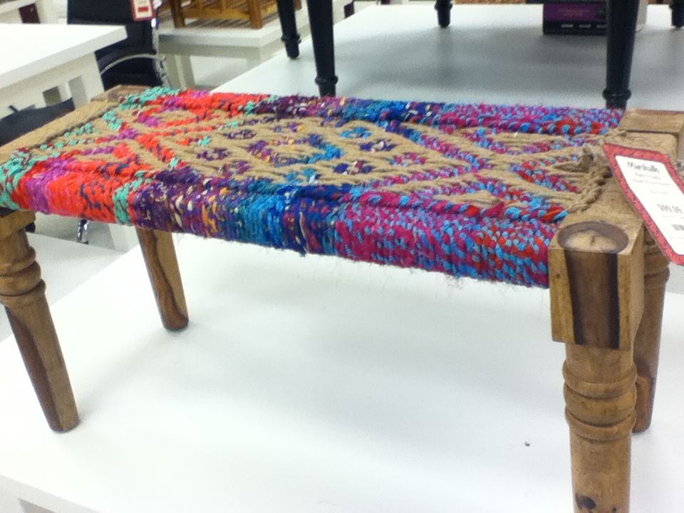 Just saw this today at Marshall's. Indian woven bench. $99. In love! - Just Saw This Today At Marshall's. Indian Woven Bench. $99. In