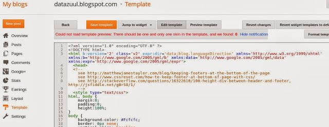 Howto Create Your Own Blogger Template From Scratch Datazuulblogspot