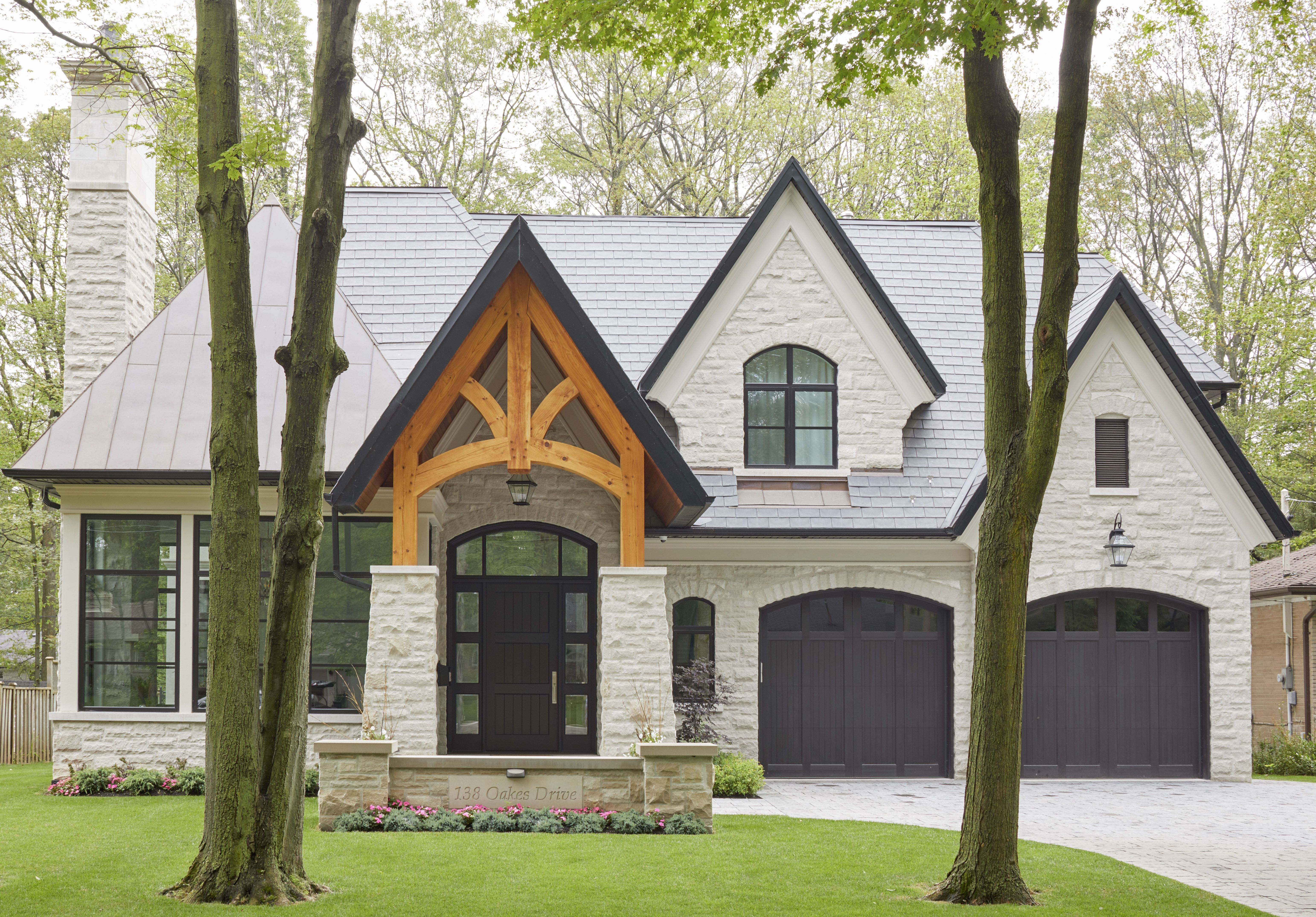 Home Exterior With Eifs Finish Ontario Canada Craftsman Home Exterior House Exterior House Designs Exterior