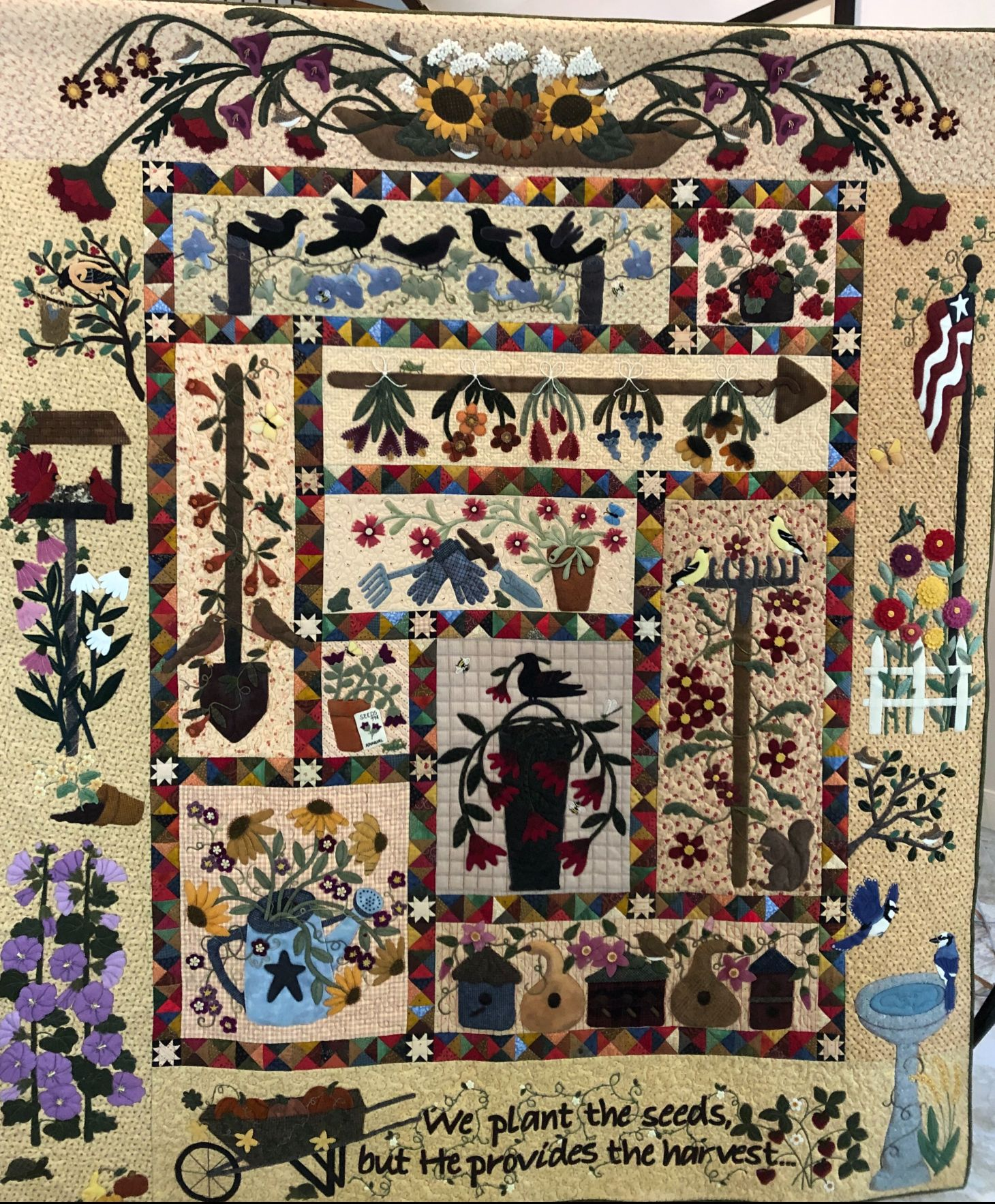 Img 1577 Jpg Primitive Quilts Art Quilts Wool Quilts