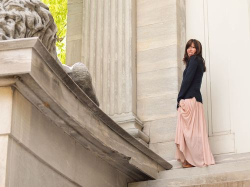 Maxi skirt with jumper