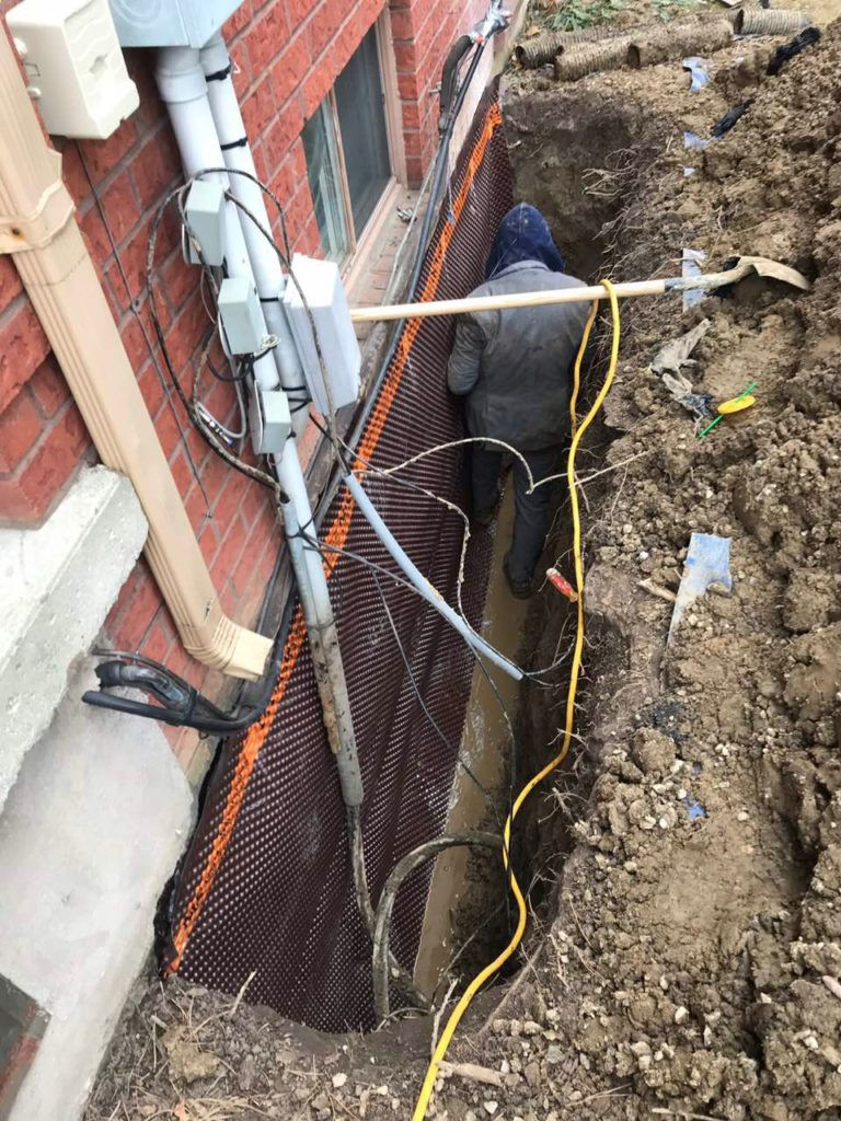 Exterior Basement waterproofing Toronto Canada
