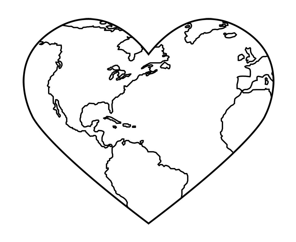 Free coloring pages for earth day - God Created The Earth Colouring Pages