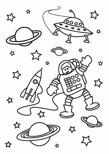 Kleurplaat de ruimte - eventuele bordtekening? | Onderwijs ...