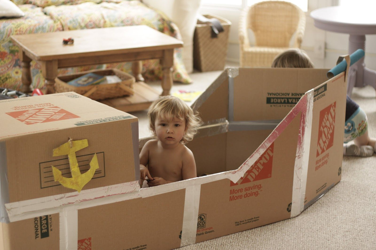diy cardboard boats for kids our cardboard pirate ship the ss