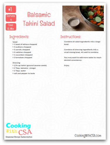 Balsamic Tahini Salad  #vegan #glutenfree