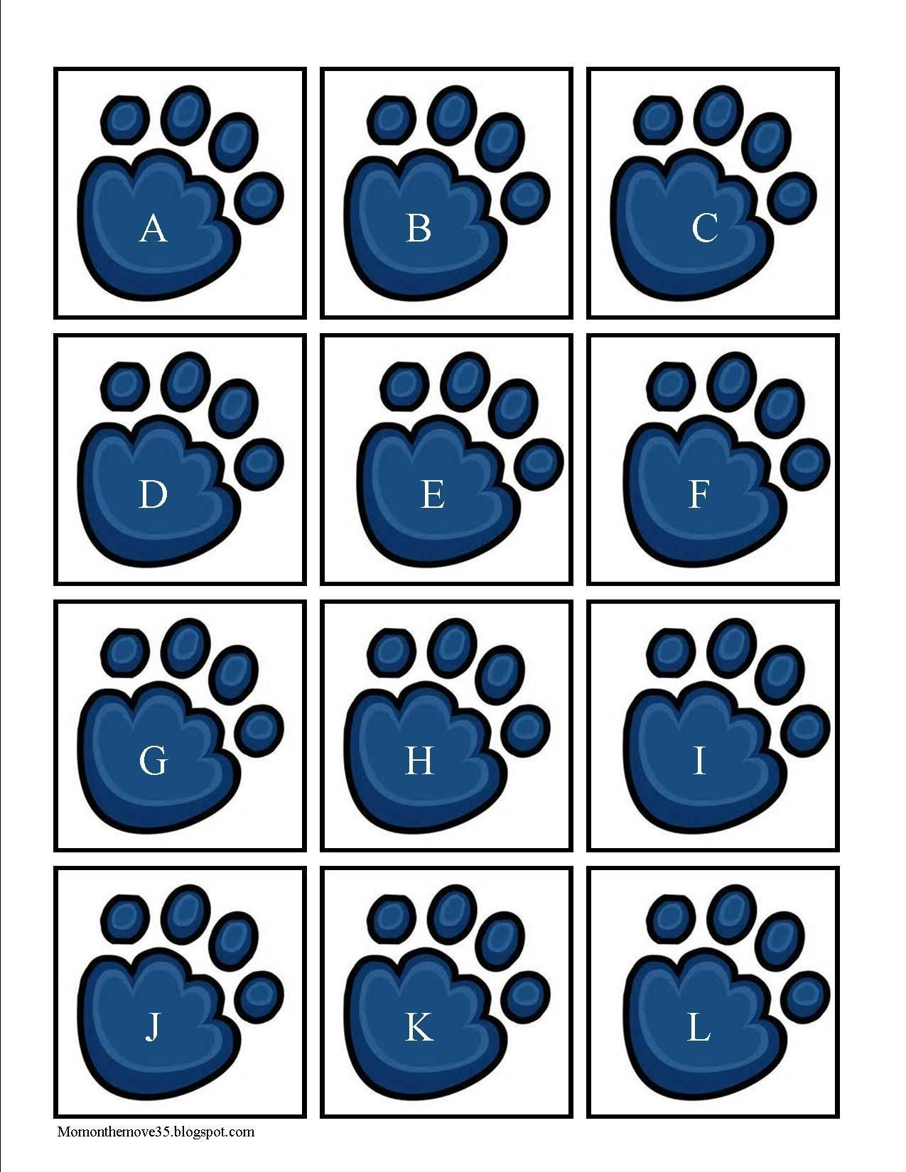 Polar Bear Paw Alphabet Cards