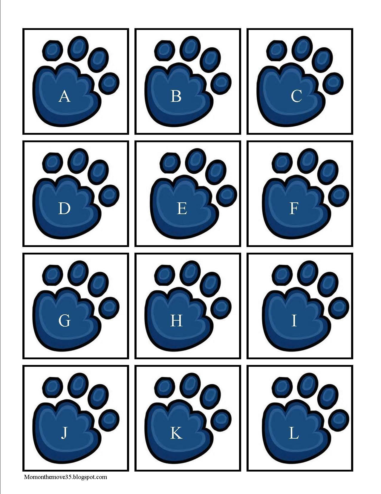 Polar Bear Paw Alphabet Cards