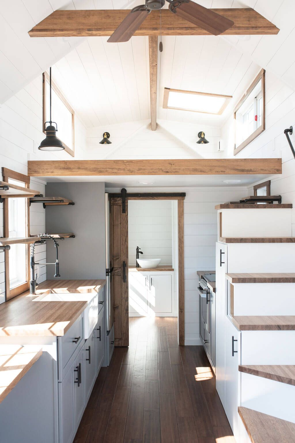 Photo of 30-ft. Farmhouse Tiny House on Wheels: Liberation Tiny Homes