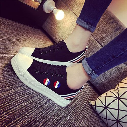 New Style Women Canvas Shoes Flag Fashion Low Girls Sneakers Canvas  Sneakers Sports Shoes Women Travel
