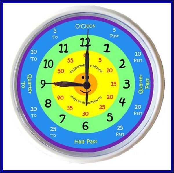 Learning Time Clock For Kids - Softschools.com