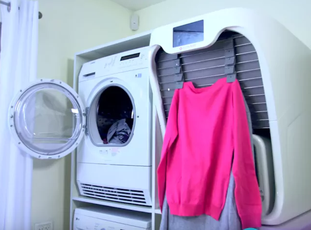 This machine is called FoldiMate. It is a Robotic Laundry Folding Machine.