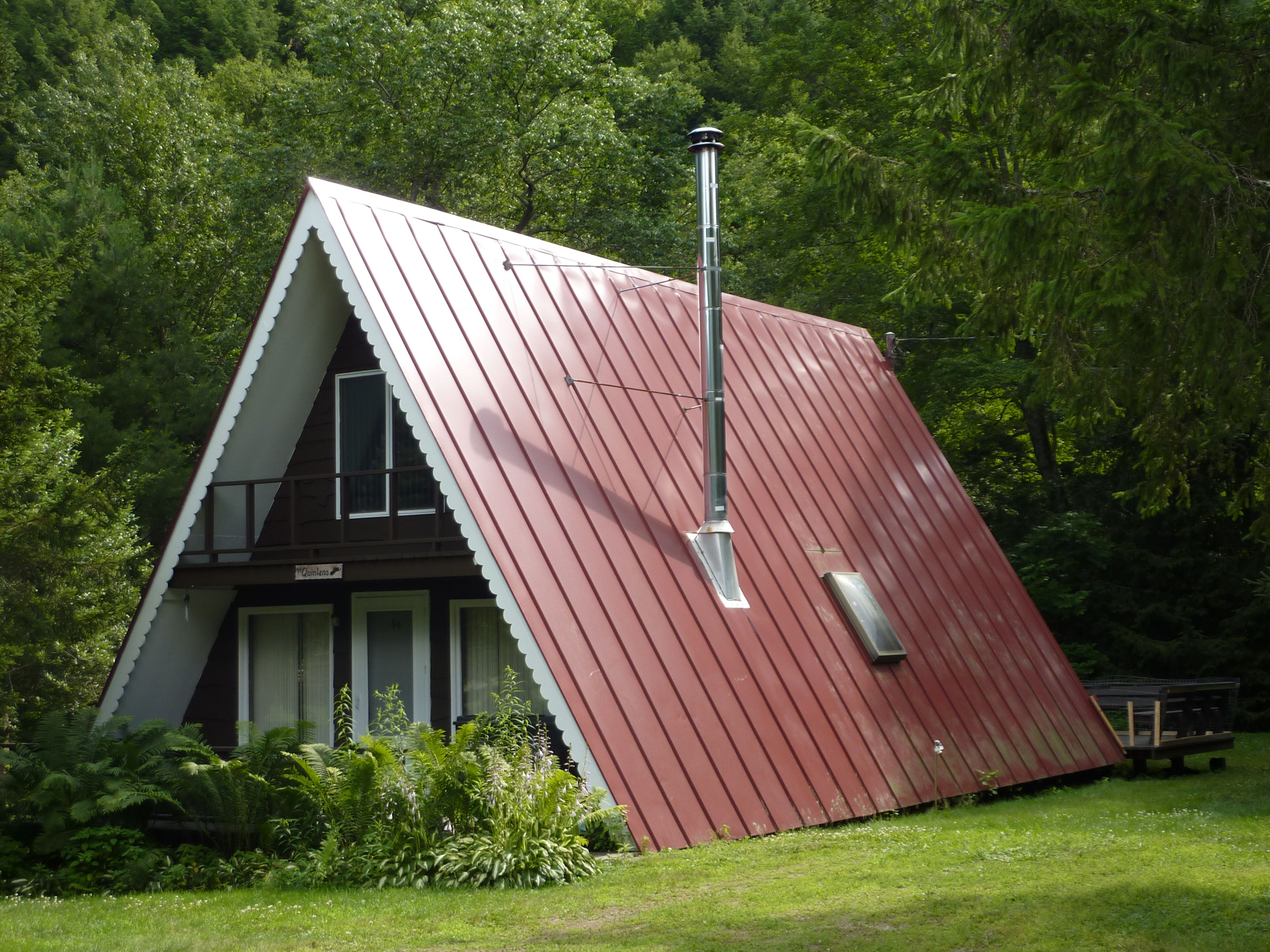 Vermont a frame a frames pinterest vermont cabin for Steel frame cabin