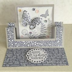 Swing Easel Card By Lesleybd Cards And Paper Crafts At Splitcoaststampers Fun Fold Cards Shaped Cards Cards Handmade