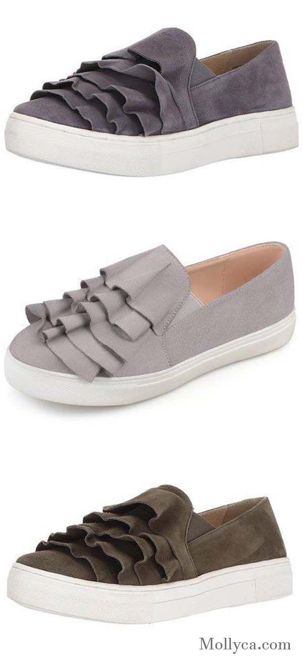 les mocassins d toe round toe d flats   toile chaussures femmes   pinterest a2dd0a