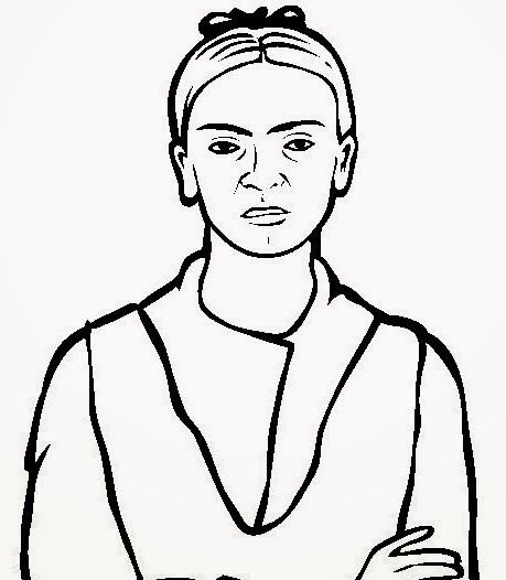 free famous people coloring pages color in this picture of frida kahlo and others with our library of online coloring pages save them send them