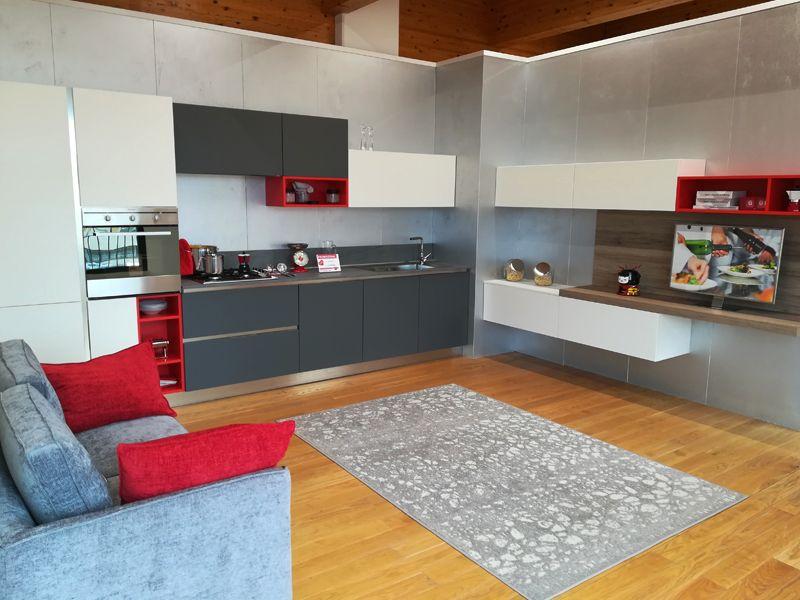 Offerta cucina completa di zona living #Arredissima #kitchen ...
