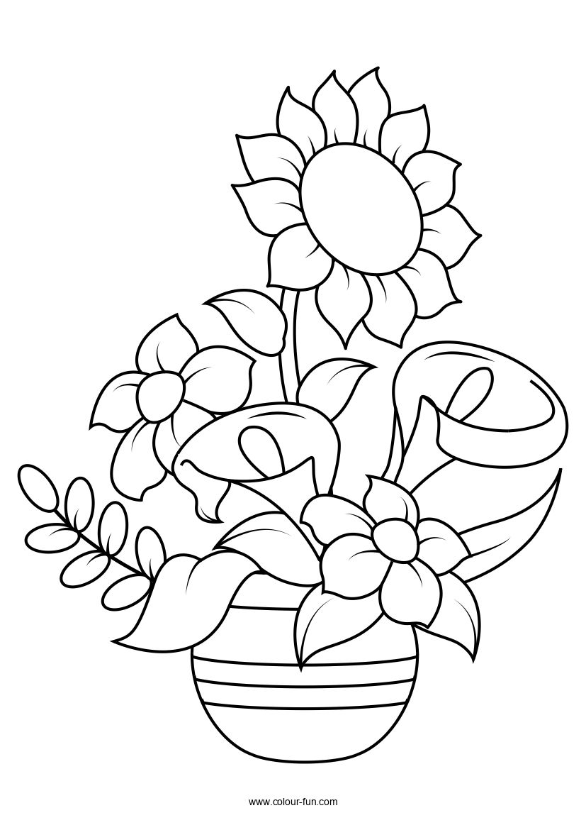 Free Flower Colouring Pages Colour Fun Flower Coloring Pages Printable Flower Coloring Pages Colorful Drawings