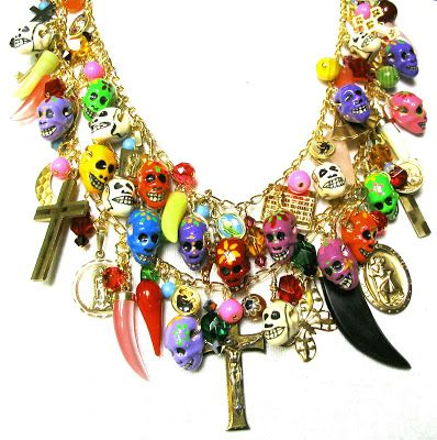Leandra Holder Jewellery Blog: 28th February 2008 - Back to work! - Day of The Dead Necklace