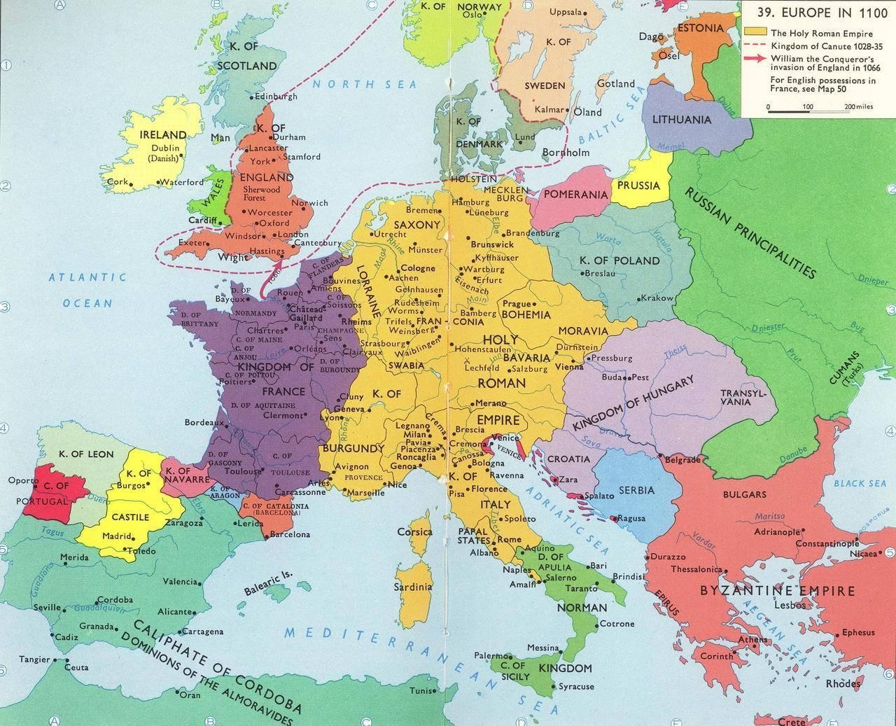 Europe In 1100 Map Historical Maps