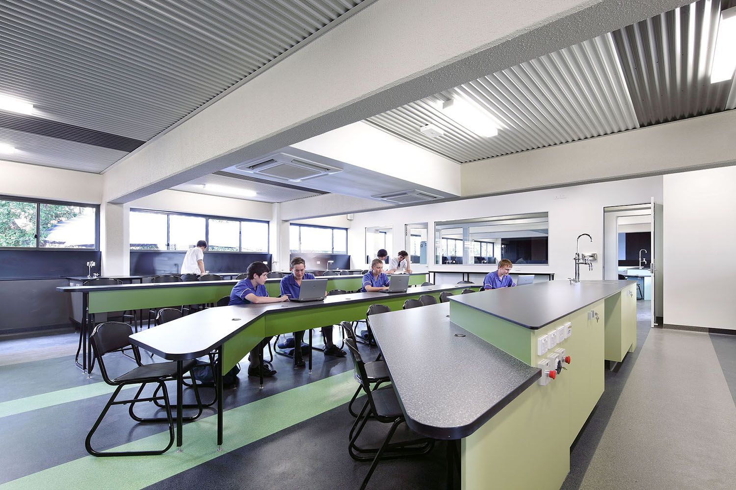 Modern Science Classroom ~ St edmund s college science block architecture