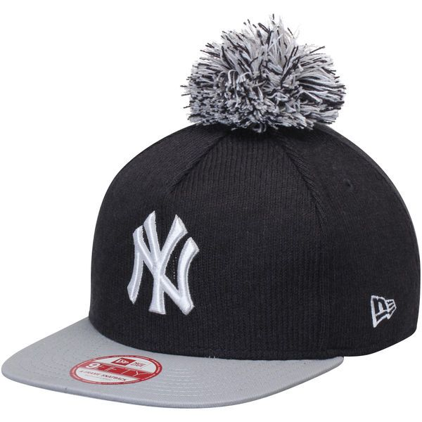 New York Yankees New Era Bobble Game 9FIFTY Adjustable Hat with Pom - Navy/Gray - $24.99