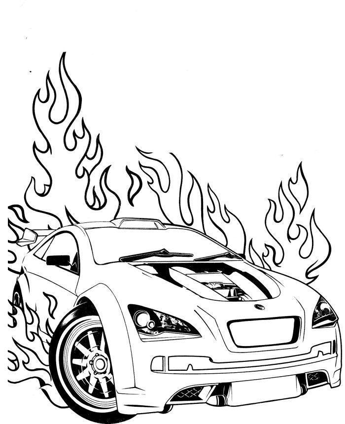 Race Car Flames Coloring Page Race Car Coloring Pages Cars Coloring Pages Coloring Pages