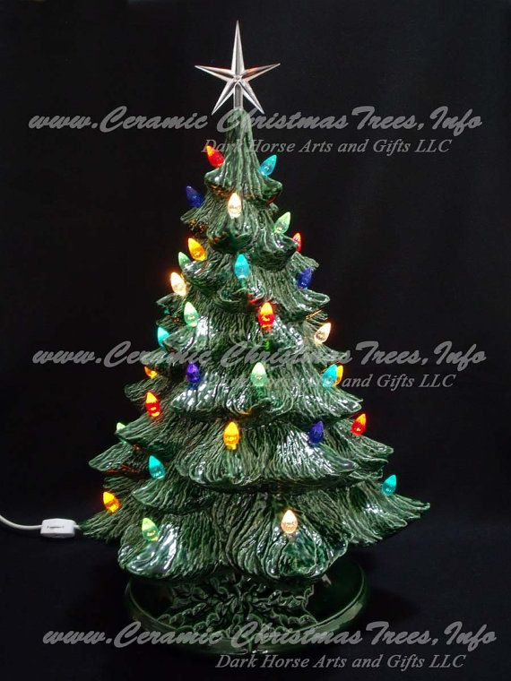 Vintage Style Ceramic Christmas Tree w/ Music Box 19 In - Vintage Style Ceramic Christmas Tree W/ Music Box 19 In Products