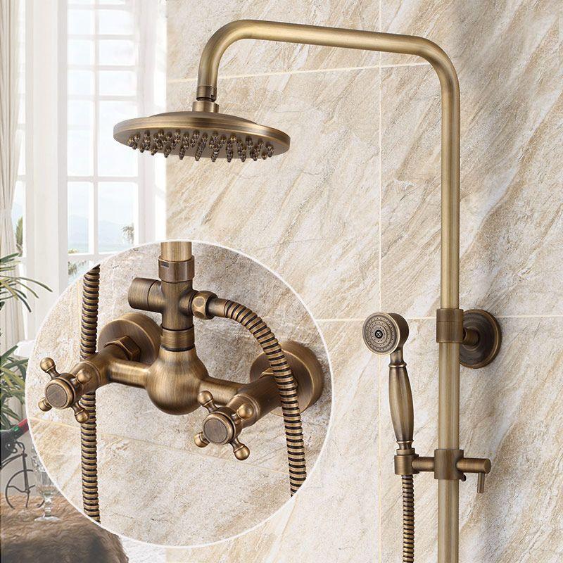 Bath Oil Rubbed Bronze 8 Rainfall Shower Faucet W Hand Spray Tub Spout Mixer Tap Shower Faucet Rainfall Shower Shower Fixtures
