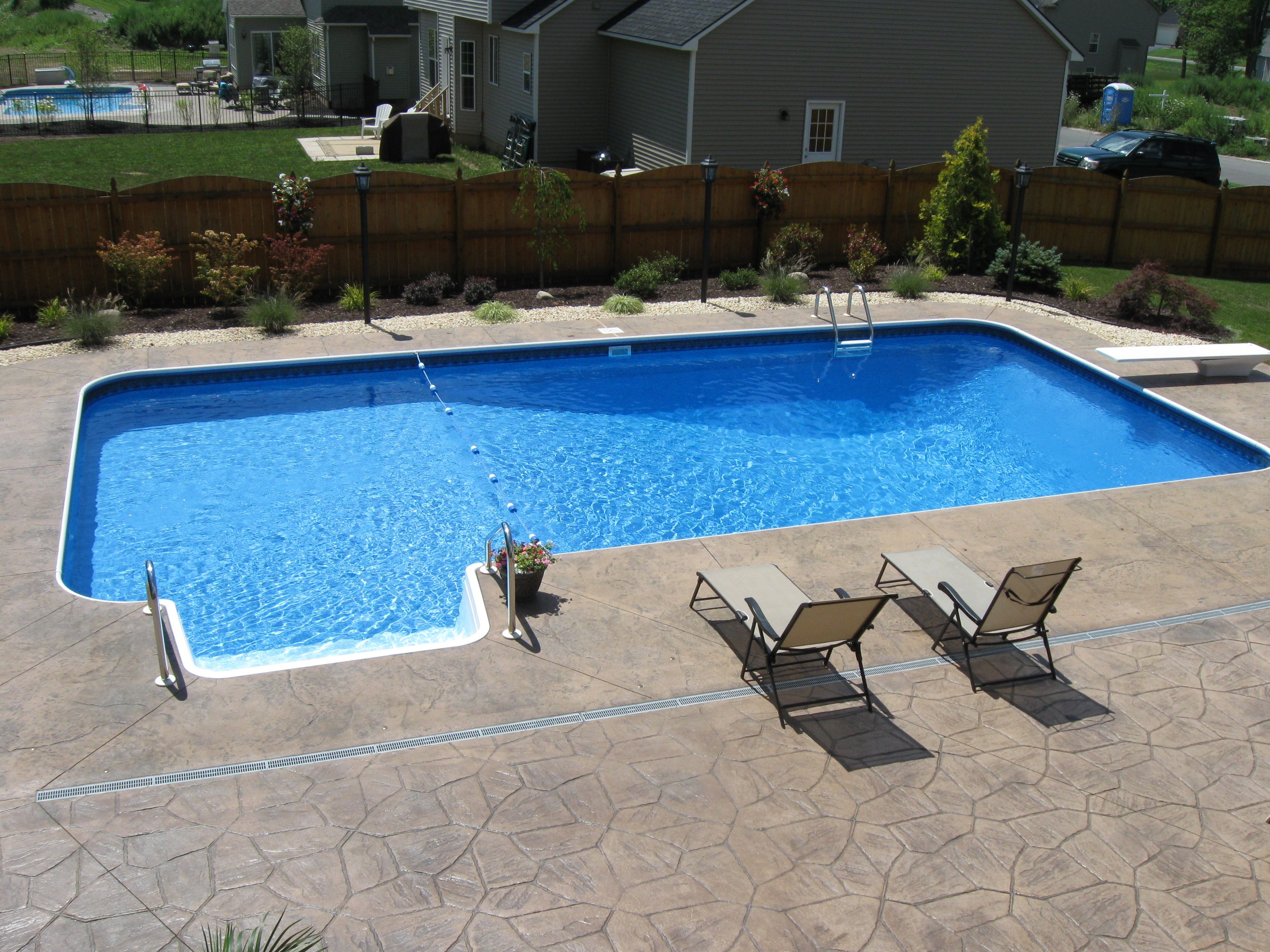 Rectangle Swimming Pool Swimming Pools Backyard Pool Porch Backyard Pool