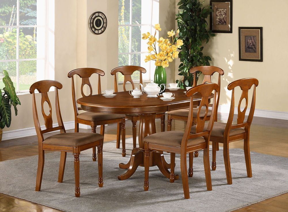 Details about ONE OVAL DINETTE KITCHEN DINING TABLE 42x78 WITHOUT CHAIR IN SADDLE BROWN FINISH images