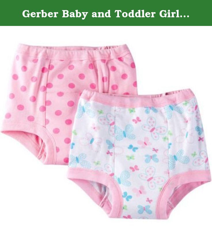30f75d6bd Gerber Baby and Toddler Girls 100% Cotton Training Pants Butterfly ...